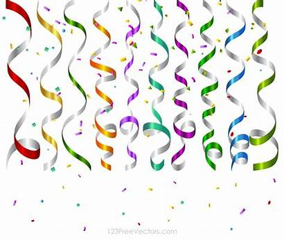Celebration Background Confetti Birthday Clipart Party Streamers