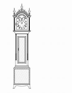 Download Grandfather Clock Drawing Plans Free