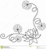 Lotus Leaves Loto Krullende Angolo Blocco Fogli Riccio Kunjungi Hdesktops sketch template