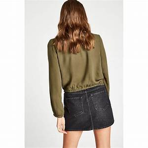 Jack Wills Womens Brasside Textured Wrap Top Loose Sleeve