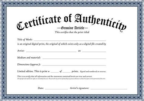 certificate  authenticity   original digital print
