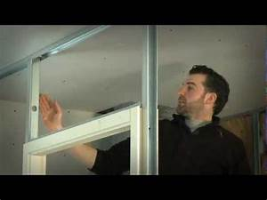 bloc porte et cloison en plaque de platre youtube With installer porte coulissante dans cloison