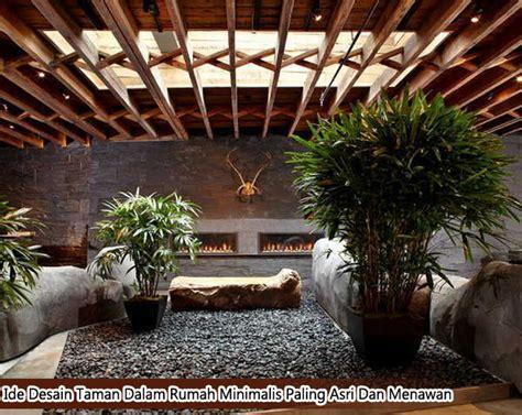 ide desain taman  rumah minimalis  asri