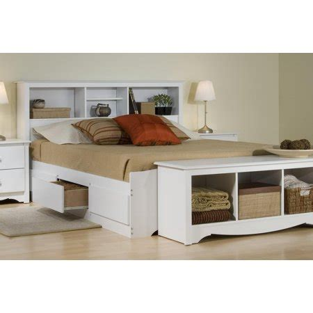 Size White Storage Bed With Bookcase Headboard by Platform Storage Bed W Bookcase Headboard Bed Size