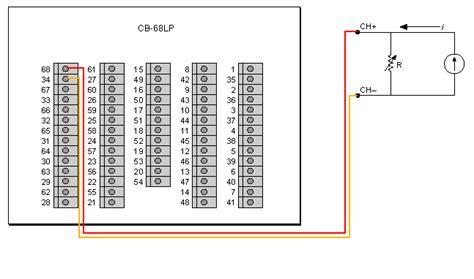 thermistor wiring in cb 68lp with pci 6034e ni community