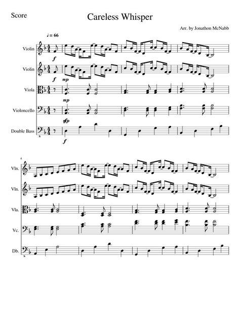 Careless whisper sheet music for piano alto saxophone. Pin on Music