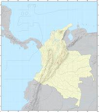 Ģeogrāfiskā karte - Kolumbija - 2,048 x 2,300 Pikselis - 2 ...