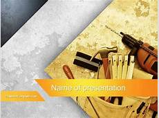 Construction Tools Powerpoint Template by Poweredtemplate
