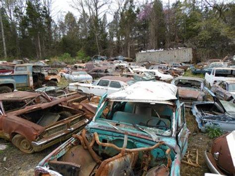 north carolina classic car junkyard wrecked vintage