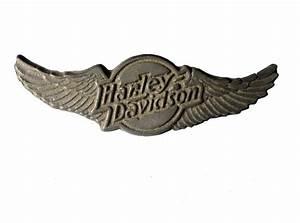 HARLEY DAVIDSON USA Eagle Wings Logo vintage pin lapel ...