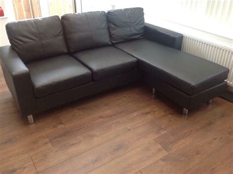 Leather Corner Settee by Black Faux Leather Corner Sofa Settee 2 Weeks