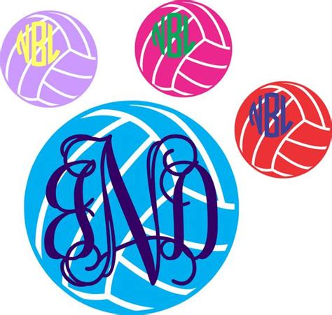 items similar  volleyball monogram decal choose