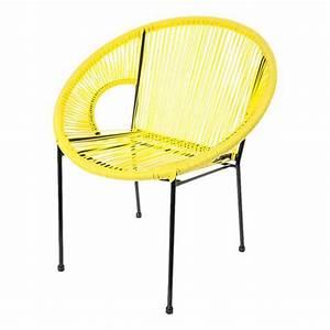 Fauteuil Acapulco Jaune : fauteuil acapulco jaune 72 x d 63 x h 78 cm ~ Teatrodelosmanantiales.com Idées de Décoration
