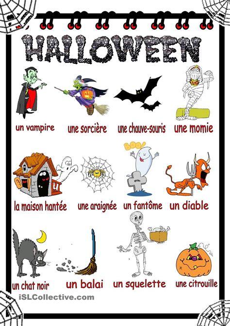 Halloween Vocabulaire  Halloween Infantil  Pinterest  Halloween, Activités Halloween Et Activité