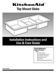Sinks 8534966 Manuals