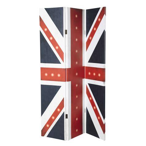 paravent chambre ado paravent lumineux drapeau uk en toile l 180 cm britain