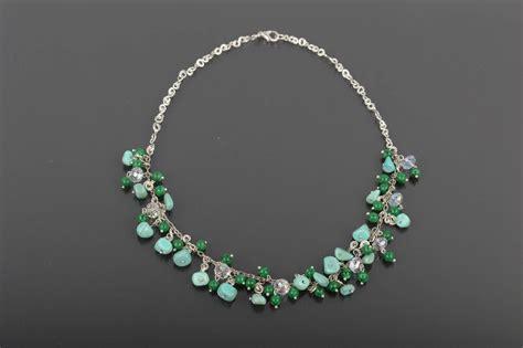madeheart stylish handmade beaded necklace stone
