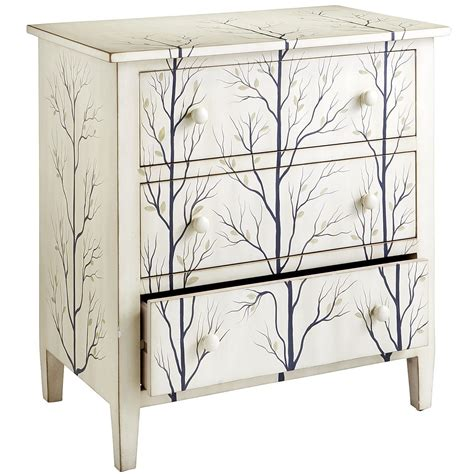 arbor chest pier  imports furniture white wood