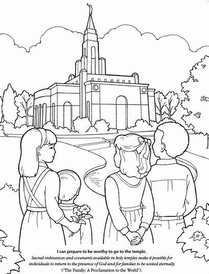 Coloring Lds Church Pages Temple Primary Children