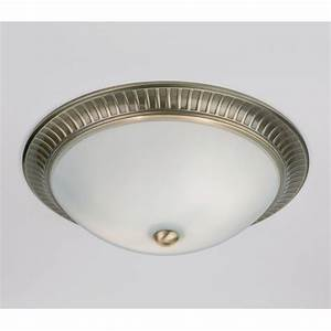 Endon  light flush ceiling antique brass