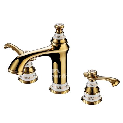 Solid Brass Bathroom Fixtures by Luxury Bathroom Faucets Polished Brass Widespread 2 Handle