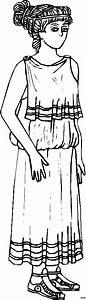 Griechische, Frau, Ausmalbild, U0026, Malvorlage, Phantasie