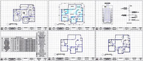residential building electrical design dwg full project
