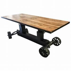 Industrial Design Möbel : esstisch esszimmer tisch massiv holz mango industrial design dining crank table esstische ~ Markanthonyermac.com Haus und Dekorationen