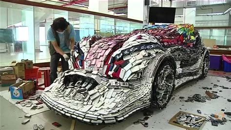 how to phones taiwanese artist creates mobile phones racecar collage