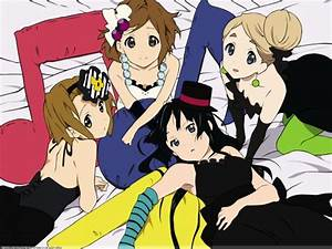 K-On! Wallpaper: Lazy Girls - Minitokyo : K-On Wallpaper ...