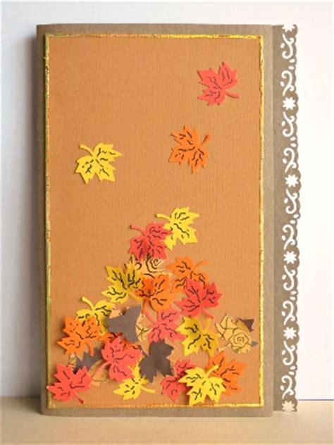 windswept autumn leaves birthday card allfreepapercraftscom