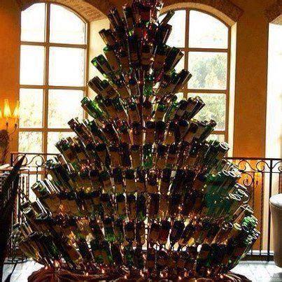 fun christmas crafts  mini liquor bottles trees