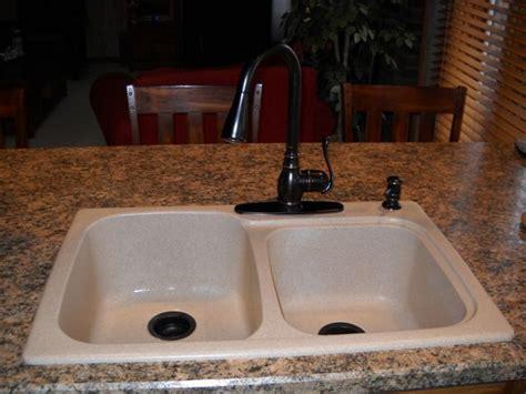 Swanstone Dual Mount Composite 33x22x9 1hole Double Bowl