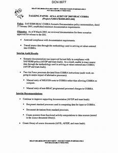 talking paper afaa audit of 2005 brac cobra page 1 of 1 With talking paper template