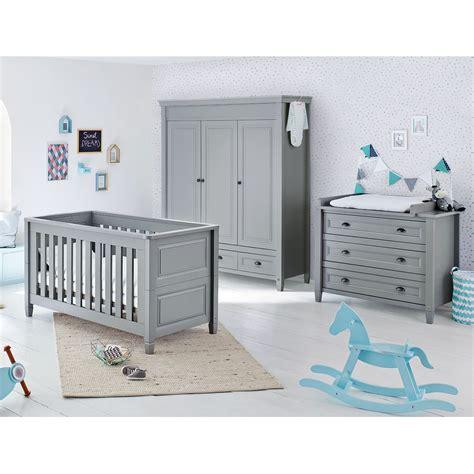 ensemble chambre bébé ensemble de chambre de bébé grisu 3 éléments gris