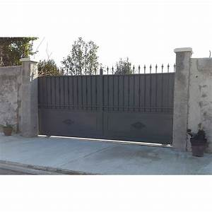 Portail De Garage Coulissant : portail cloture fer porte de garage coulissante sfrcegetel ~ Edinachiropracticcenter.com Idées de Décoration