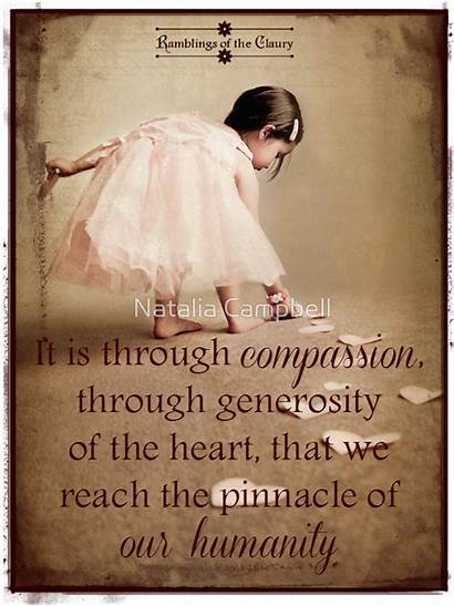 Quotes Humanity Compassion Pinnacle Thoughts Woman Motivational