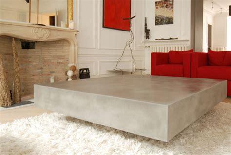 table basse en b 233 ton ctzen ductal mobilier design taporo en beton lafarge prefabricant