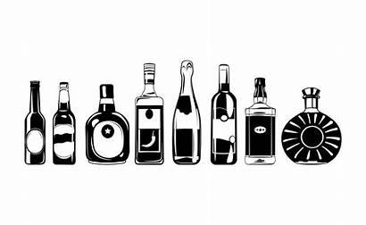Svg Alcohol Beer Bottles Tequila Wine Vector
