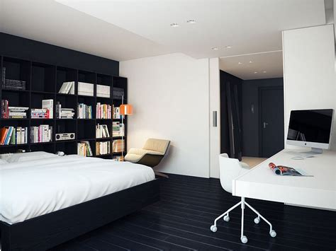 Modern Bedroom Desk by Charming Modern Bedroom Design With Office Station Use