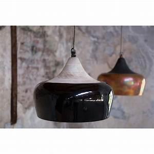 Suspension Noir Et Cuivre : suspension coco noire cuivre ou ivoire par ~ Melissatoandfro.com Idées de Décoration