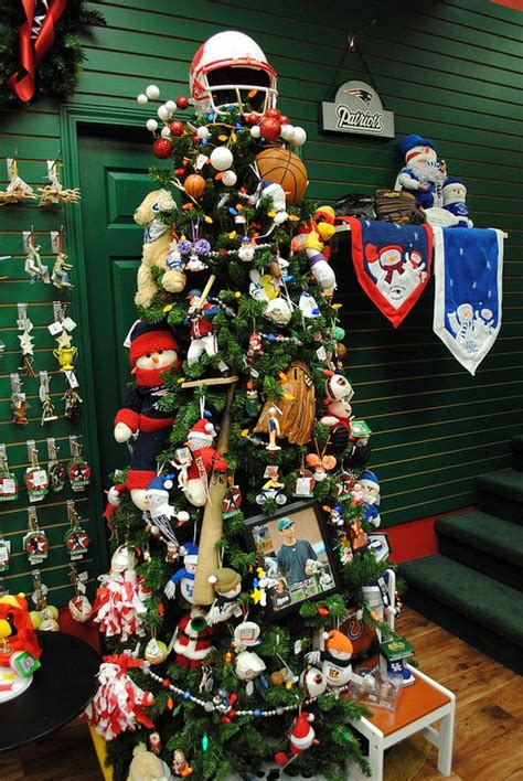 themed christmas trees christmas trees and sports on