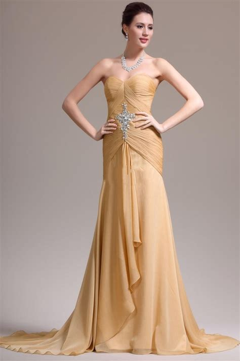 gold chiffon evening dresses corset bodice formal gowns