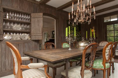 Rustic Accent Table Dining Room Rustic With Baseboards
