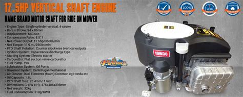 shaft engine motor ride on mower name brand with fuel pump