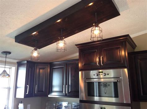 custom kitchen lighting custom built edison bulb light fixture to cover up 3063