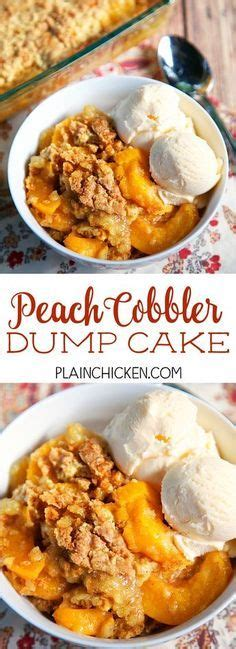 peach dump cake canned peaches yellow cake mix  stick