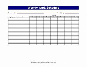 6 best images of free printable office forms schedules printable weekly work schedule template for Work schedule templates free