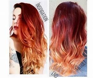 Ombré Hair Rouge : balayage rouge et blond ~ Melissatoandfro.com Idées de Décoration