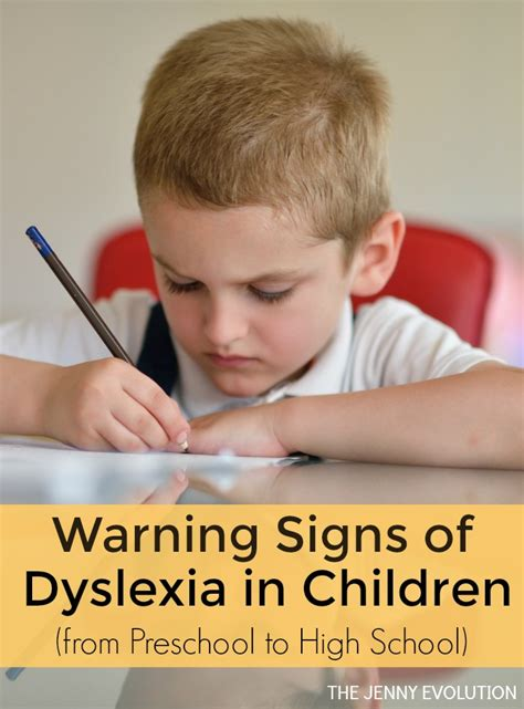 signs of dyslexia in children from preschool to highschool 308 | Warning Signs of Dyslexia in Chidlren